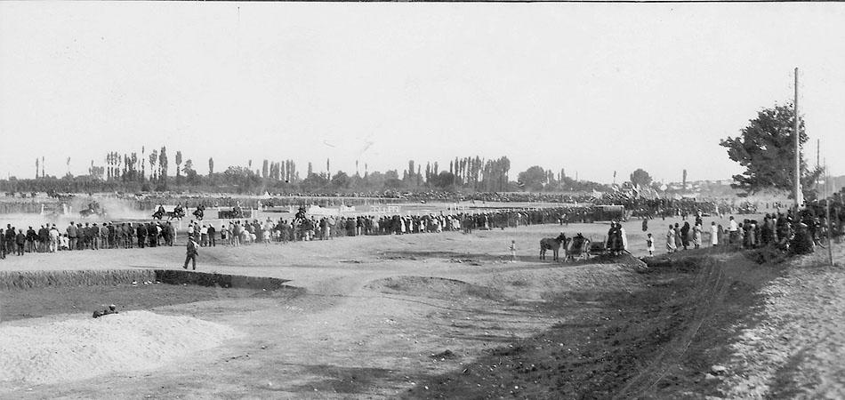 Εμποροπανήγυρης και Ιππικοί Αγώνες. Επιστολικό δελτάριο των Παναγιοτακόπουλου και Σία. Περίπου 1930