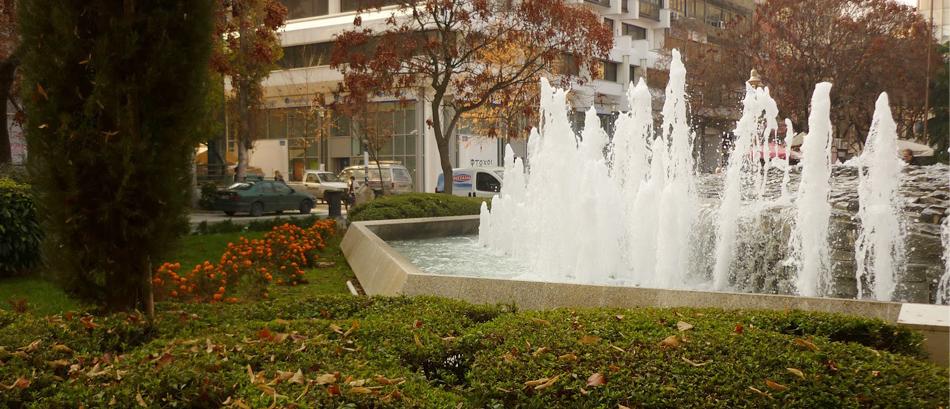 Η κεντρική πλατεία της Λάρισας